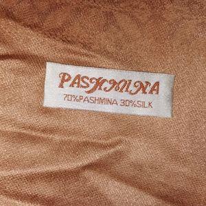 Pashmina silk wrap peachy color like new